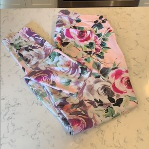 Hue floral jeggings